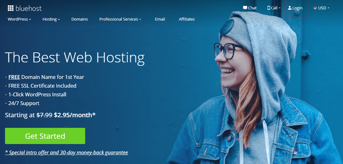 Bluehost - The best India Magento web Hosting