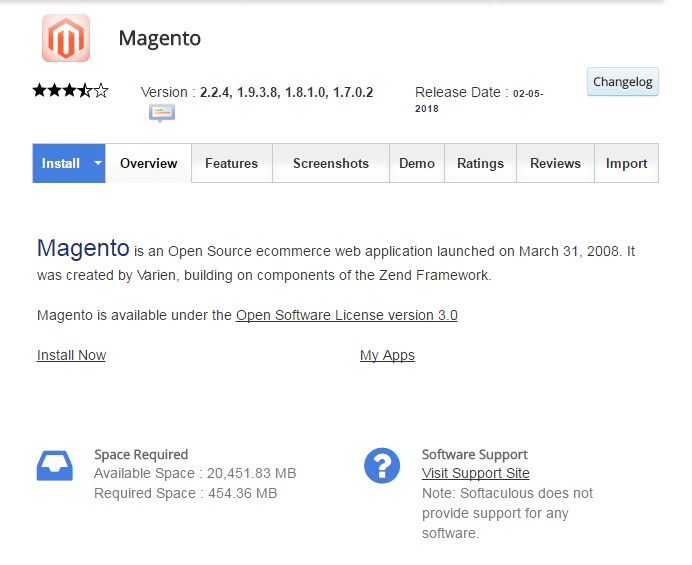 Installing Magento on Siteground - Step 1