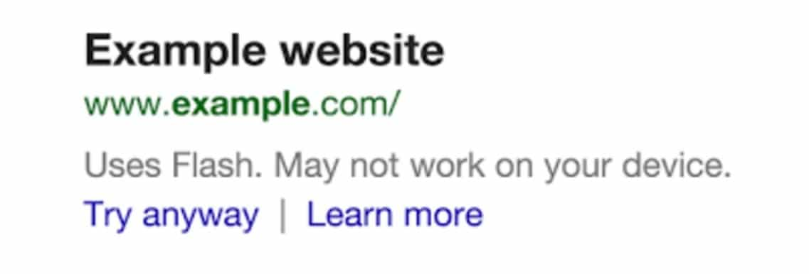 Search result from Google